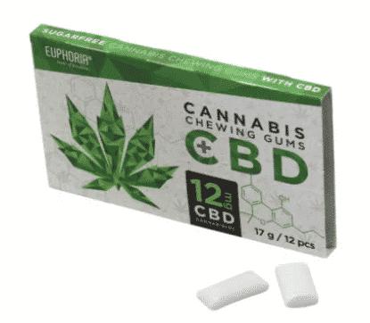 Euphoria Cannabis Kaugummi mit 12 – 18MG CBD