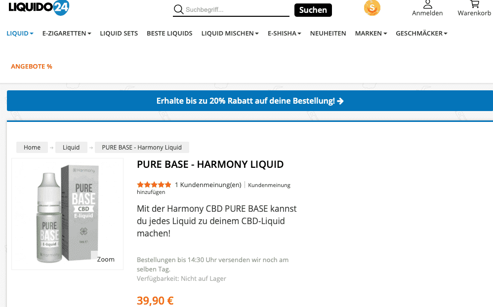Screenshot von PURE BASE - Harmony Liquid
