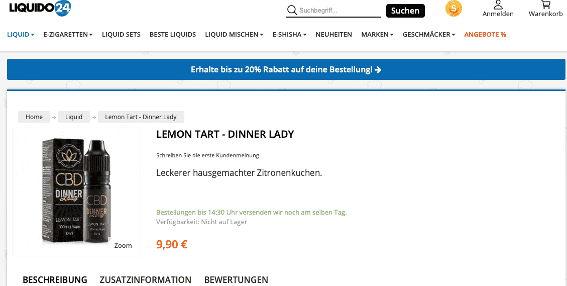 Screenshot von Lemon Tart - Dinner Lady