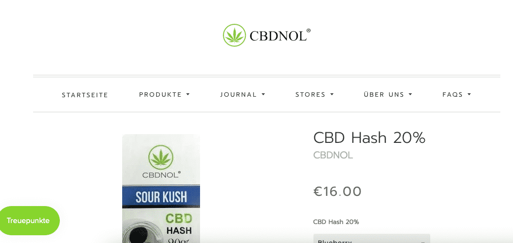 Screenshot von CBDNOL CBD Pollen - Sour Kush Hasch 20%