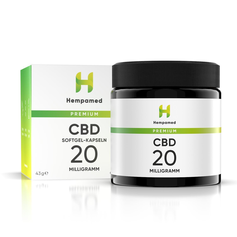 Hempamed CBD Kapseln 20 mg (hochdosiert)